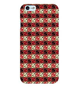 Printvisa Tri Colour Check Pattern Back Case Cover for Apple iPhone 6S Plus
