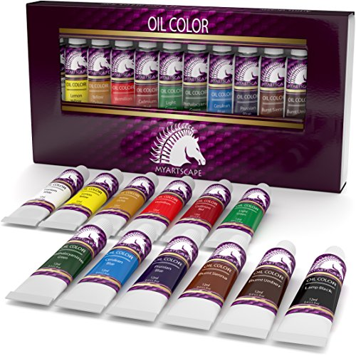 Oil Paint Set - 12ml x 12 - Art Paints - Artist Quality - MyArtscape (Oil Paint Beginners compare prices)