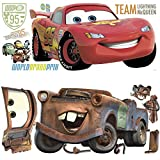 Disney Pixar Cars 2 Lightning McQueen & Mater Peel and Stick Giant Wall Decal Bundle