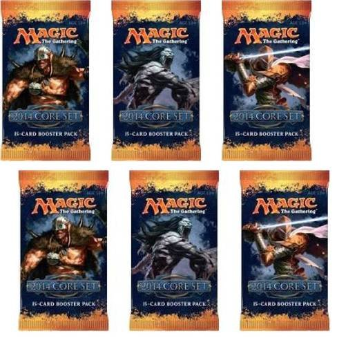 2 Player Booster Draft Set: Magic The Gathering Mtg - M14 Core Set 2014 Booster Packs (6 Packs) front-258751