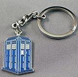 Metal Enamel Keyring Doctor Dr. Who Tardis Police Box