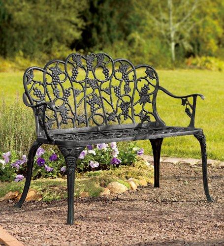 Outstanding Benches Patio Furniture Powder Coated Aluminum Grape Vine Customarchery Wood Chair Design Ideas Customarcherynet