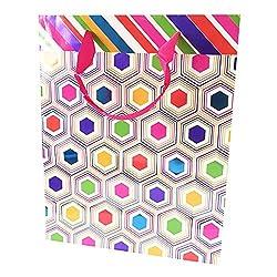 Pink Hexagon Gift Bag (Set of 2)