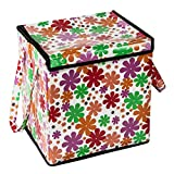 Home Candy Floral Small PVC Foldable Laundry Bag - Multicolor