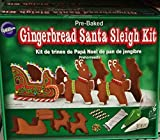 Christmas Gingerbread Santa Sleigh Kit Pre Baked Wilton Set