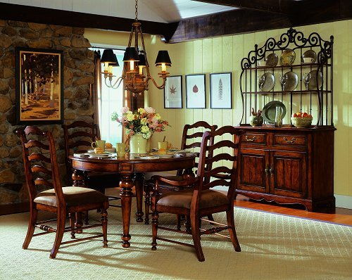 Buy Low Price Hooker Furniture 48″ Round Leg Dining Table by Hooker Furniture – Wood Tones (366-75-200) (366-75-200)