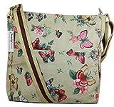 Casper Butterfly Print Crossbody Bag in Beige