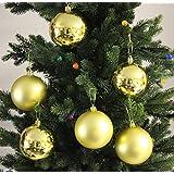 6pk 80mm Shatterproof All Gold Christmas Tree Ornament Decorations