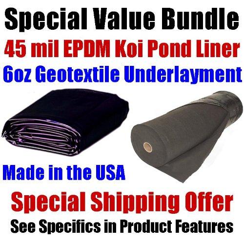 20 39 x 25 39 patriot 45 mil epdm koi pond liner for Koi pool liners