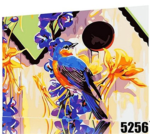 Bird Painting, Paint By Number Kit 16*20 Inch