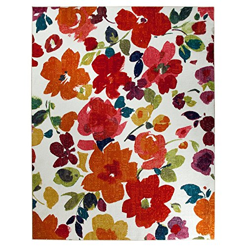 Mohawk Home Spring Blooms Area Rug, 96 by 120-Inch, Multi