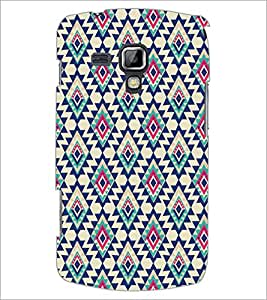 PrintDhaba Diamond Pattern D-5391 Back Case Cover for SAMSUNG GALAXY S DUOS 2 S7582 (Multi-Coloured)
