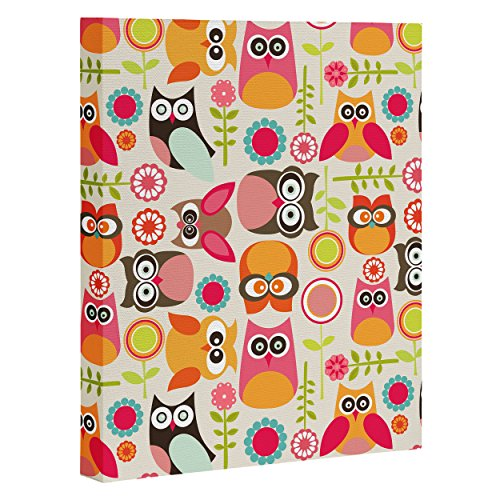 "DENY Designs Valentina Ramos Cute Little Owls Art Canvas, 24"" x 30"""