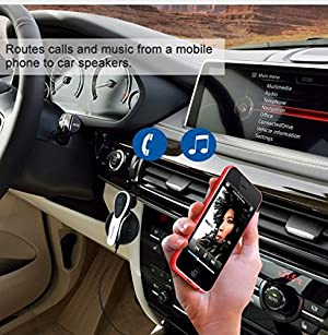 Excelvan BT49 Bluetooth 4.0 Car Kit Handsfree Audio Headset Wireless Stereo Music Streaming Receiver Adapter with Mic for Car