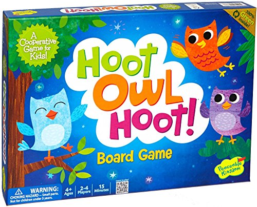 Peaceable Kingdom / Hoot Owl Hoot! Award Winning Cooperative Board Game front-898458