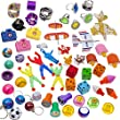 100 Pc Toy Assortment (Includes: Glider Airplanes, Dice Erasers, Mini Camera Viewers ,Sports and Globe Key Chains, Slap Bracelets, 3'' Parachutes, Stampers, Yo Yo's, Big Jewl Rings, and Other Small Toys for Party Favor Bags, Pi�ata, Carnival Prizes, or School Classroom Rewards)