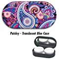Contact Lens Cases - Paisley: Blue Case