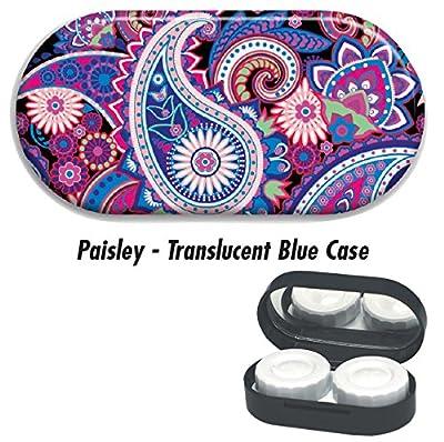 Contact Lens Cases - Paisley: Blue Case