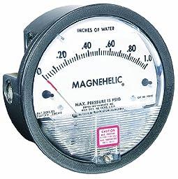 Dwyer Magnehelic Series 2000 Differential Pressure Gauge, Range 0-20 psi