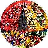 MeSleep Namastey India Wall Clock With Glass Top