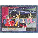 "Dolls Of India ""Courtesans Entertain The King"" Reprint On Paper - Unframed (34.29 X 24.77 Centimeters)"