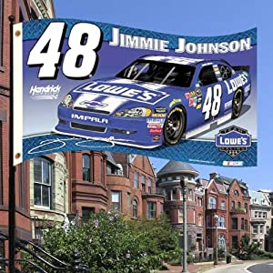 NASCAR Jimmie Johnson 2-Sided 3-by-5 Foot Flag with Grommets by BSI