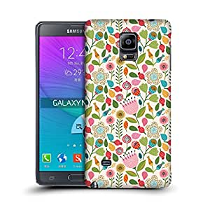MobileGlaze Designs Blooming Meadow Print Kawaii Hard Back Case Cover for Samsung Galaxy Note 4 / Duos