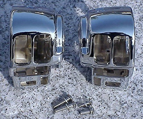 i5 Chrome Switch Housings for Harley Davidson Electra Glide Road King (2013 Road Glide Custom compare prices)