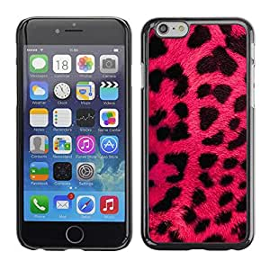 Omega Covers - Snap on Hard Back Case Cover Shell FOR Apple Iphone 6 Plus / 6S Plus ( 5.5 ) - Pink Leopard Fur Pink Black Animal Pattern