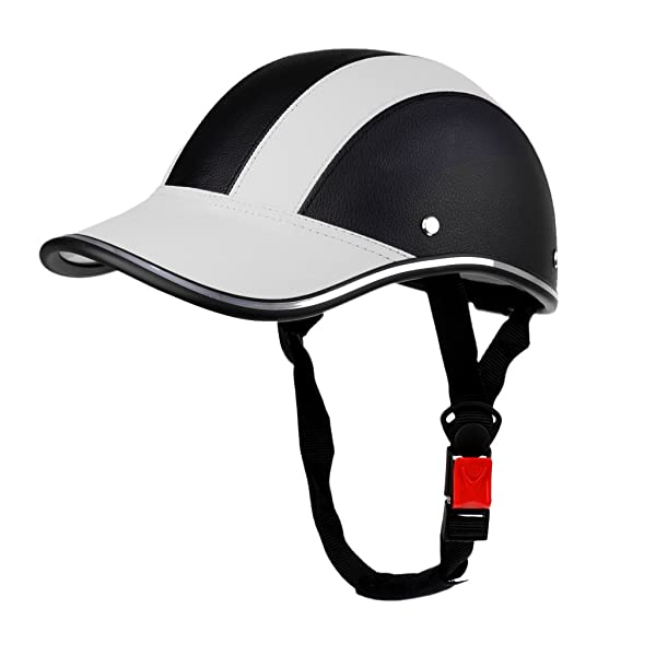 Motorcycle Cycling Half Open Face Helmet Baseball Cap Style Safety Hard Hat