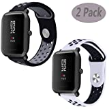 Compatible Xiaomi Amazfit Bip Band,LitoDream Silicone Soft Band Wristband Replacement Straps for Xiaomi Huami Amazfit Bip Younth SmartWatch (2 Pack #2) (Color: 2 pack #2)