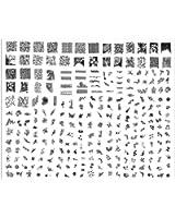 Stamping Nail Art Kit / Set accessoire pour manucure / pedicure pour déco d'ongles par Cheeky: super plaque (C) d'images comportant 240 pochoirs. Rapport prix / quantité imbattable!