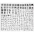 Stamping Nail Art Kit / Set accessoire pour manucure / pedicure pour d�co d'ongles par Cheeky: super plaque (C) d'images comportant 240 pochoirs. Rapport prix / quantit� imbattable!