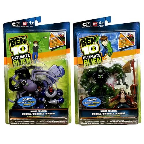 Buy Low Price Bandai Ben 10 Ultimate Alien Comic and Figures Wave 2 Set (B004HH6GQO)