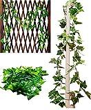 Active Island 観葉植物 アイビー フェイク 造花 人工 屋外 屋内 壁掛 緑 植物 アンティーク (250cm 2本)