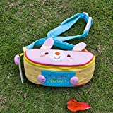 [Like Rabbit] Embroidered Applique Kids Fanny Waist Pack / Travel Lumbar Pack (7.1*3.1*2.8)