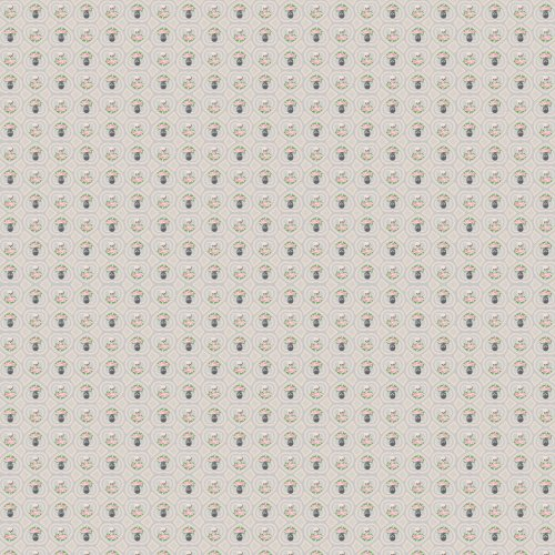 WallCandy Arts Hearts Skulls Wallpaper, Gray