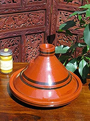 Medium traditional Moroccan plain tagine 25cm from Maroque