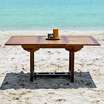 Table de jardin en bois de teck huilé BALI 6/8 places