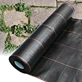 2M X 40M HEAVY DUTY WOVEN WEED CONTROL GROUND MULCH LANDSCAPE FABRIC