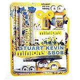 Minion Stuart, Kevin & Bob Loves Banana Stationery Combo Of 3 Set, Best Gift Set, Return Gift Set