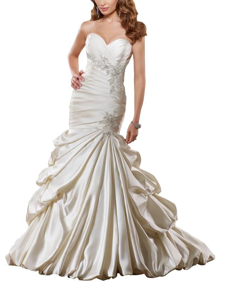 Silky Taffeta Over Satin Wedding Dress