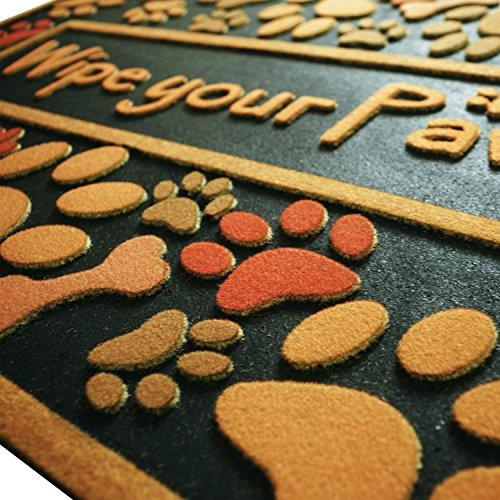 Outdoor Shoe Scraper Wipe Paws Doormat Recycled Rubber