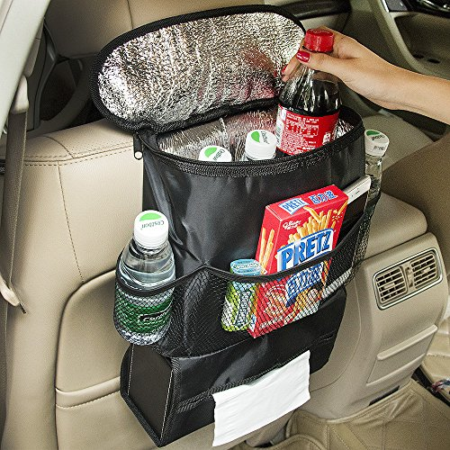 Tonsiki Car Auto Truck Seat Back Storage Mesh Bag Organizer Holder Travel Bottle Drinks Multi-Pocket 28 x 10 x 22cm (Truck Back Seat Storage compare prices)