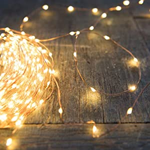 PERFECTDAY String Lights, 200 LED 66 FT Copper Fairy String Lights Warm White Waterproof USB Powered String Light for Indoor Outdoor Party Decoration (Color: Warm White, Tamaño: 66 ft)