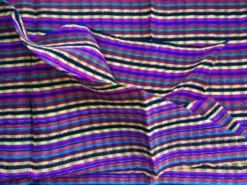 Inspirit Arts Short Multicolor Headwrap, Handwoven Lightweight Cotton, Gauze-Like Open Net Weave, Headwrapping Hair Scarf, Bandana, Hair Tie,Turban, Lock Sock, Chemo Cap, Head Cover front-479583