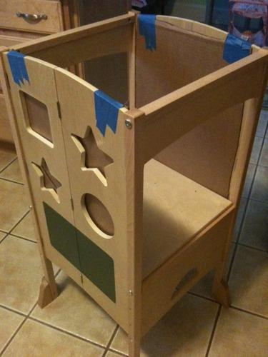 guidecraft guidecraft all grown up kitchen helper step stool