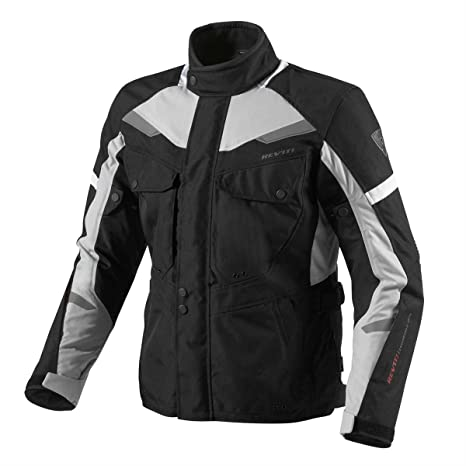 FJT159 1170-S - Rev It Safari Motorcycle Jacket S Black-Silver