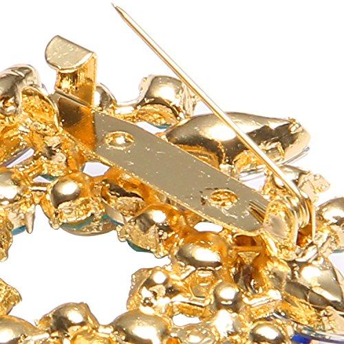 Valdler Women 's Brooch Pin With Fashion Jewelry Fancy Vintage Rhinestone Bling Crystal Bauhinia Flower 4