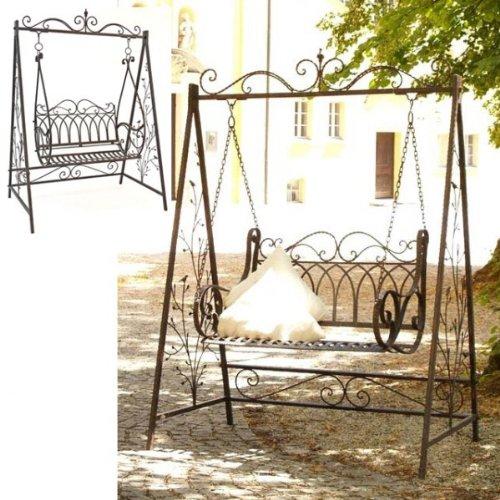 XXL Garten Schaukel AVIS Hollywoodschaukel Gartenschaukel Schmiedeeisen Gartenmöbel jetzt kaufen